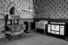Household Rugby (KeithJ) Tags: bodie ghosttown oldwest blackandwhite monochrome householdrugby stoves interior monocounty california