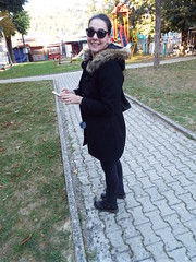 Kostajnica Bosnia (sean and nina) Tags: kostajnica bosna bosnia bih balkan balkans europe european border town path pathway brick outdoor outside republika srpska autumn 2018 nina walking stand standing black clothes coat fur hoos sunglasses pose posed posing brunette smile smiling happy female woman girl lady girlfriend fiancee wife married beauty beautiful gorgeous stunning charm cute people person boots face