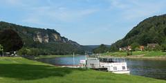2013-07-24 River (beranekp) Tags: germany deutschland sachsen saxony stadt wehlen river labe elbe schiff boat sächsische schweiz