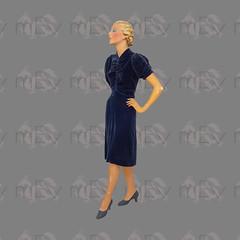 1930s Blue Velvet Dress (Rickenbackerglory.) Tags: vintage 1930s blue velvet dress siegel mannequin