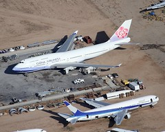 "Victorville    ""Aircraft Storage"" (Flame1958) Tags: 7437 victorville californialogisticsairport vcv kvcv desertstorage 130418 0418 2018 boneyard aircraftboneyard southerncalifornialogisticsairport chinaairlines chinaairlinesb747 boeing747 b747 747 allnipponairlines allnipponairways ana anab767 georgeairforcebase"