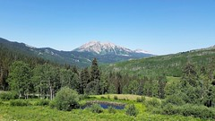 On the Kebler Pass Road (Patricia Henschen) Tags: westelk mountains clouds kebler pass scenicbyway scenichistoricbyway pond beaver aspen forest nationalforest gunnison gunnisonnationalforest crestedbutte colorado keblerpass gunnisoncountyroad12 backroad roadside rural