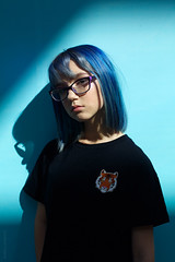 *** (andreylarionov) Tags: girl portrait andreylarionov bluehair russia
