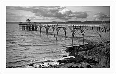 The Pier at Clevedon (juliemarie.stollery) Tags: pier clevedon somerset blackandwhite monochrome seaside beach sea coast