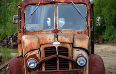 a relic from the distant past (jtr27) Tags: dscf1870xl jtr27 fuji fujifilm xt20 fujinon xtrans xf 50mm f2 f20 rwr wr antique vintage truck van divco rust decay patina maine newengland