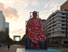 Big Mom (HBA_JIJO) Tags: urban graffiti art france hbajijo painting peinture street woman urbain view installation ladéfense arche structure streetart paris92