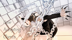 The chains that bind us... (Fraz_Gloom) Tags: eve sl second life secondlife cerberusxing cx tableauvivant backdropcity belleza catwa