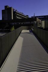 University Grounds (Leon Sammartino) Tags: university ground denmark copenhagen shadows modern architecture summer blue sky