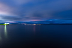 Skyline (gubanov77) Tags: skyline landscape night longexposure lake water sky onegalake petrozavodsk kareliarepublic russia onegaembankment outdoor city cityscape karelia онежскоеозеро петрозаводск карелия россия онежскаянабережная promenade blue