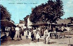 La place du marché à Verberie
