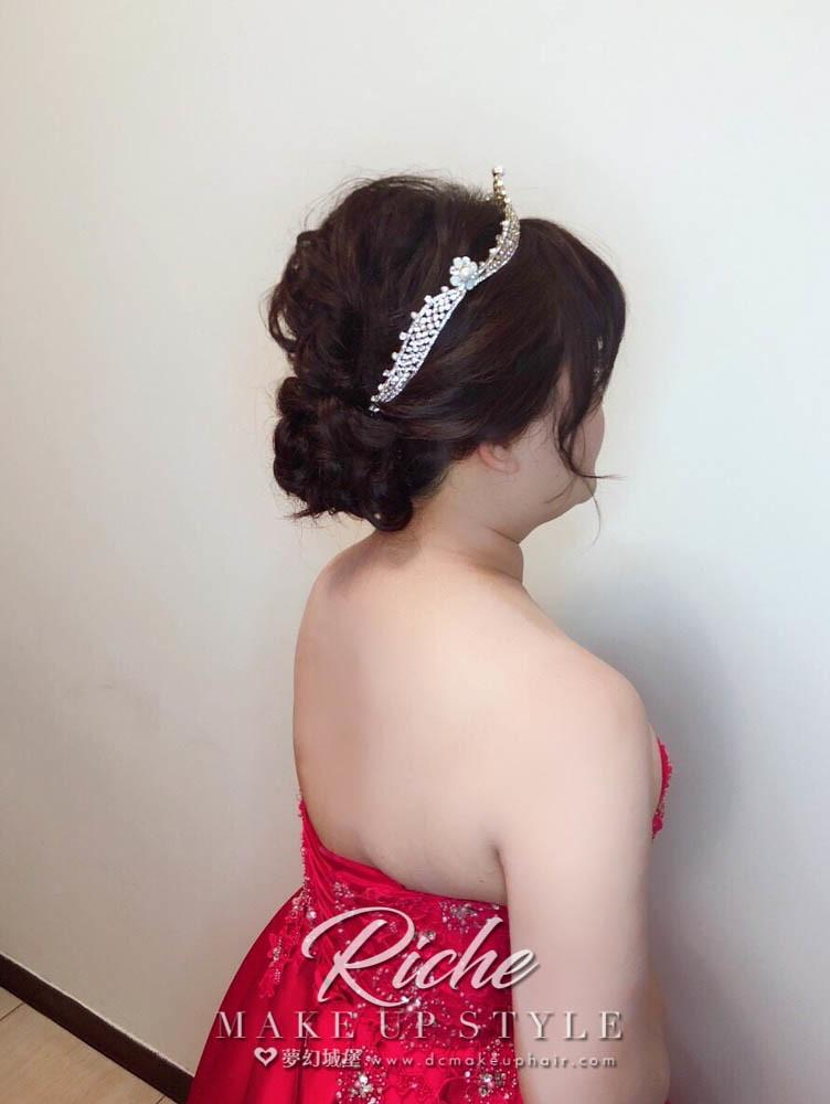 【新秘RICHE】bride暖淑 訂婚造型 / 台中幸福莊園