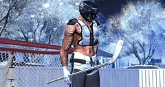 Dacio - Get Rekt (dacioholgado) Tags: hockey second life secondlife winter getrekt helmet pads noche cordeaux signature vrsion prodigyink ice cold trees frozen stick gloves tattoo