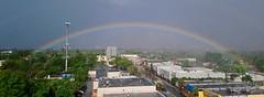 The heavy rain and the rainbow. (Aglez the city guy ☺) Tags: miamifl miamicity storm rain rainbow urbanexploration exploration experiment allapattah architecture indoor