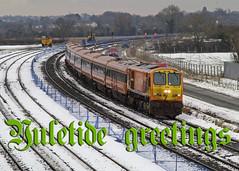 214 & MK3s on 1425 Heuston-Galway at Stacumny Bridge 04-Feb-09 (metrovick) Tags: 214 ie214 irishrail iarnrodeireann emd emdexportloco jt42hcw stacumnybridge railroad railway yuletidegreetings