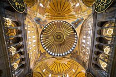Hagia Sophia Ceiling (chrisdingsdale) Tags: hagiasophia ayasofya building historic structure ceiling ornamental decorative mosaic religious landmark famous architecture art byzantine christian church istanbul turkey culture heritage golden constantinople hagia sofya sofia sophia ottoman religion painting temple muslim empire turkish mosque basilica dome byzantium islam travel aya interior tourism monument column arch christianity