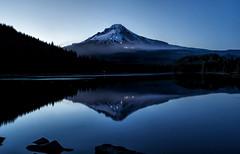 Firefly (Kathy Macpherson Baca) Tags: landscape waterscape mounthood planet water mountain oregon bluehour world nature lake earth rocks