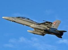 Swiss F-18D (np1991) Tags: royal air force raf lossiemouth lossie moray scotland united kingdom uk nikon digital slr dslr d7100 camera aviation planes aircraft exercise scot night 18 switzerland swiss boeing fa18 f18 hornet bug