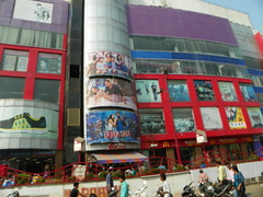 Varanasi 256a - IP Mall Sigra (juggadery) Tags: 2015 india varanasi benares banaras kashi cityoflight urban building architecture puccahouse transport people
