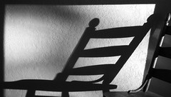 chair-noir (petamini_pix) Tags: shadow shadowandlight chair moody phoneography cameraphone blackandwhite blackwhite bw monochrome grayscale