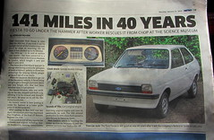 An Original 40 Year Old Ford Fiesta With 141 Genuine Miles On The Clock An Article From The Metro Newspaper Monday January 21 2019 (Kelvin64) Tags: an original 40 year old ford fiesta with 141 genuine miles on the clock article from metro newspaper monday january 21 2019