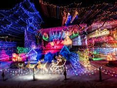 PC204069 (Copy) (pandjt) Tags: orléans ottawa ontario nightphotography winterphotography ledlights christmaslights orléansblvd intentionalcameramovement icm abstract lightpattern