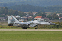 3709 Mikoyan-Gurevich Mig-29AS Slovakian Air Force Sliac 01st September 2018 (michael_hibbins) Tags: 3709 mikoyangurevich mig29as slovakian air force with parachute sliac 01st september 2018 aeroplane aviation aerospace aircraft airplane aero airfields airport airports military defence strategic tactical fighter bomber multiengined multirole jet jets afterburner afterburners plane planes