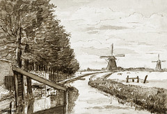 Landscape with a canal and two mills by Jean Bernard (1775-1883). Original from the Rijks Museum. Digitally enhanced by rawpixel. (Free Public Domain Illustrations by rawpixel) Tags: antique art artwork canal drawing drawn handdrawing handdrawn holland illustrated illustration jeanbernard landscape mills old publicdomain rijksmuseum sketch view vintage