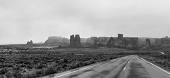 The Road to Mighty. (Ryan Hallock) Tags: phonepicture apple rhallock ryanhallock weather snow rain southernutah coloradoplateau water wet naked bw blackandwhite sandstone monoliths canyons moab utah nationalpark outdoors outside beautiful iphonex archesnationalpark