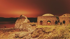 Bricktop. (FadeToBlackLP) Tags: lightpainting longexposure lp wales derelict abandonedworld abandoned sea sky night clouds