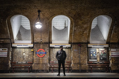 Waiting For a Train (Rich Walker Photography) Tags: tubestation londonunderground bakerstreet tube underground train london historic station transport travel person man human canon england efs1585mmisusm eos eos80d