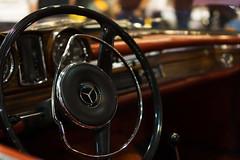 Nostalgic (frankdorgathen) Tags: ruhrpott ruhrgebiet rüttenscheid messeessen motorshowessen alpha6000 sony sony35mm bokeh nostalgisch nostalgie nostalgic vintage daimler mercedes auto car steeringwheel lenkrad