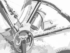 Ready to Roll (foxxyg2) Tags: hk highkey art mono monochrome bw blackwhite highcontract cycles racing cycleracing bikes mountainbikes naxos cyclades greece greekislands islandhopping islandlife niksoftware dxo topaz topazsoftware topazstudio