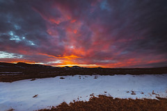 11 Mile Sunset (ashercurri) Tags: 11 mile reservoir sunset sun snow landscape sony a7ii