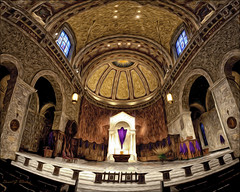 High Upon the Altar (danielgweidner) Tags: architecture cathedral eos5d hdr nik nikcolorefx panoramic photomatix pixelbender viveza2 pano panorame photoart photoshopcs6 crosbystillsnashyoung surreal