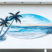 Painting of Beach on Motel Wall