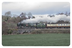 Clan Line makes it to Sherborne on 'The  Christmas Carols' special steam train charter 20 Dec 2018. (livinginhtab) Tags: clanline steamtrain 35028 somerset sherborne winter carols