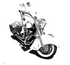 rider needed... (Stu Bo) Tags: motorcycle harleydavidson sbimageworks highkey freedom ride rebel wheels blackandwhite bw machine monotone bikeart