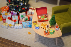 Santa will be welcomed with treats and hot chocolate. (Moonrabbit_ly) Tags: christmas christmasgifts christmaseve santa miniature holiday dollhouse diorama barbie rement cute