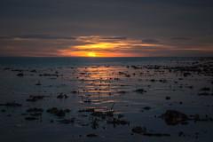 that elusive sun... (Emma Varley) Tags: sunset beach worthing westsussex golden lowtide