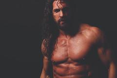 Joel Hicks (jimbob195) Tags: body torso male muscle muscles sweat water abs pecs watch ripped muscular bodybuilder