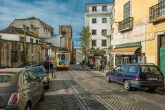 Rua Augusto Rosa, Lisbon (Sorin Popovich) Tags: alfama lisbon street portugal southerneurope urban perspective tram oldtram tramway