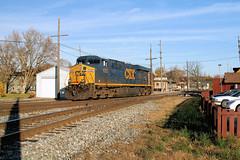 CSX5357-ES44DC_Plymouth-MI_11-13-2007g (Count_Strad) Tags: railroad track tracks emd ge gp382 c408w es44dc gp9r c449w sd40t2 plymouth melvindale northville mi michigan csx