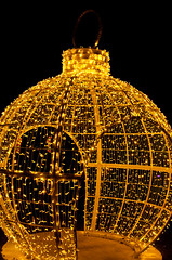 Bauble writ LARGE! (J.R. Rondeau) Tags: rondeau windsor ontario christmas xmas christmaslights christmasdecorations colours colors bright brightlights lights canoneos tamron2875 photoshopelements10