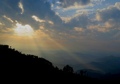 Sunrise over The Himalayas (Give-on) Tags: asia nepal nagarkot himalaya mountain sunrise cloud morning landscape nature