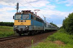 431-286 (Péter Vida) Tags: train railroad máv v43 cable locomotive sky