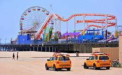 Santa Monica (M McBey) Tags: santamonica beach pier baywatch losangeles rollercoaster lifeguards location film