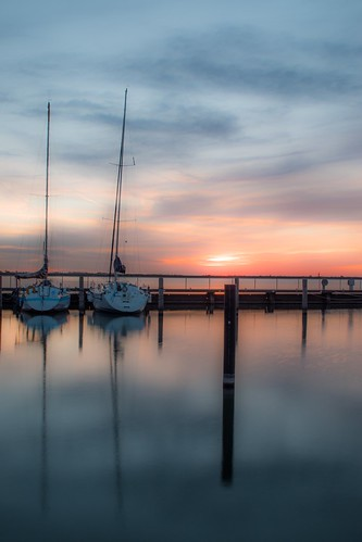 Sunset at Lelystad Haven