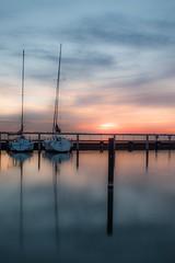 Sunset at Lelystad Haven