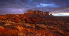 Lightening Sunrise (ihikesandiego) Tags: monument valley sunrise desert lightening strikes storm navajo