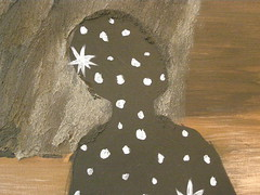 Daniel Brunovský, Rocky Landscape, 2008, detail (DeBeer) Tags: danielbrunovský slovak art painting contemporary imaginative postmodern surreal metaphysical rockylandscape landscape angel blackangel stars